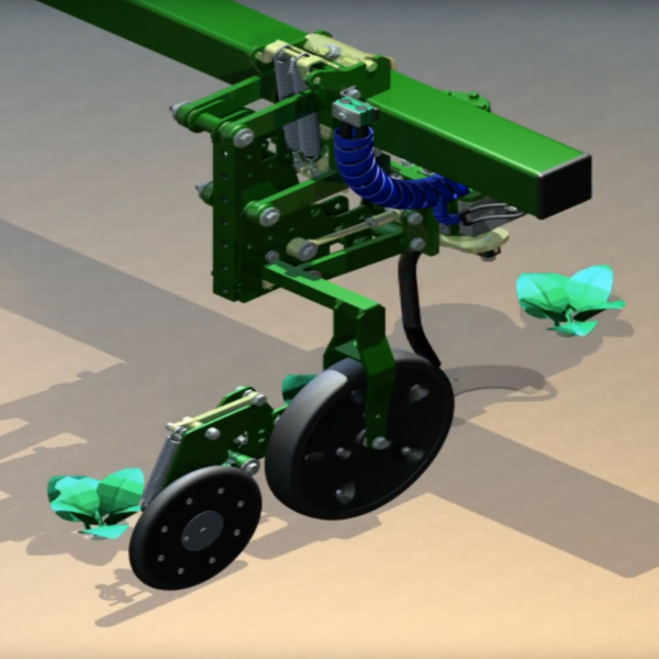 Robocrop InRow Weeder animation